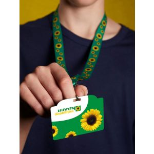Sunflower lanyard, a choice of ID cards and a clear wallet