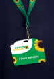 image of epilepsy card on Sunflower lanyard