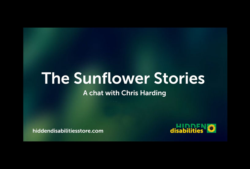Image of text - Sunflower Stories - a chat with Chris Harding