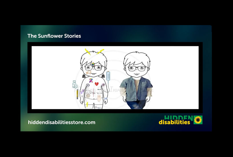 Image of characters showing hidden disabilities