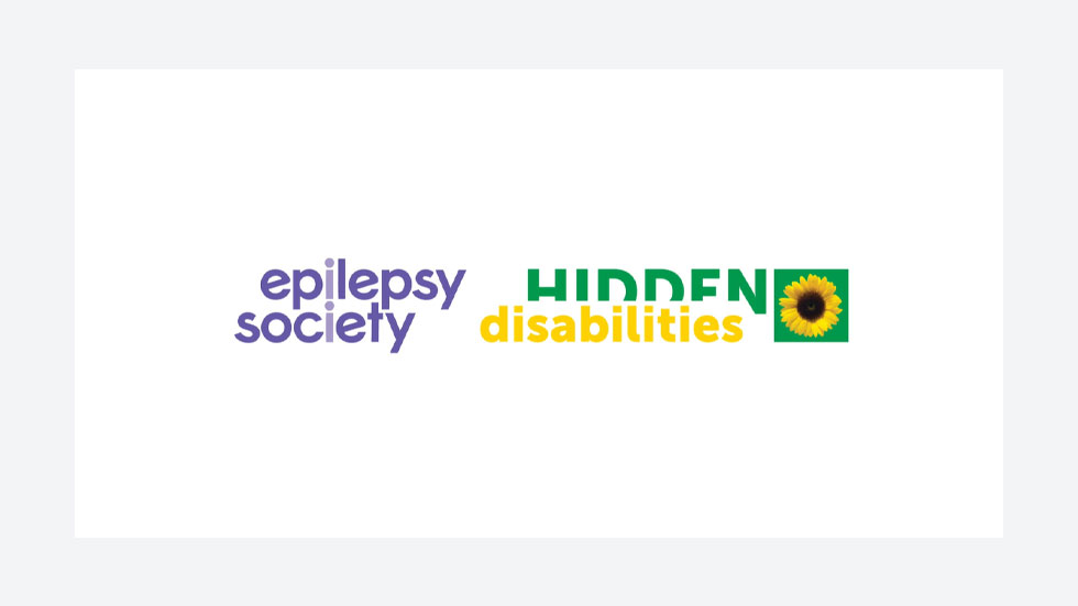 The Epilepsy Society and Hidden Disabilities logos