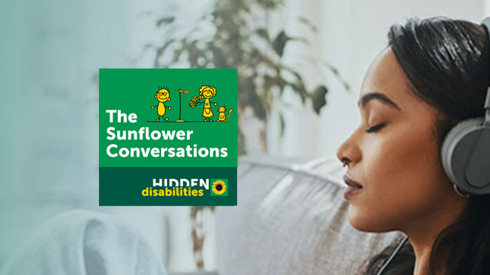 An animated banner for the Sunflower Conversations