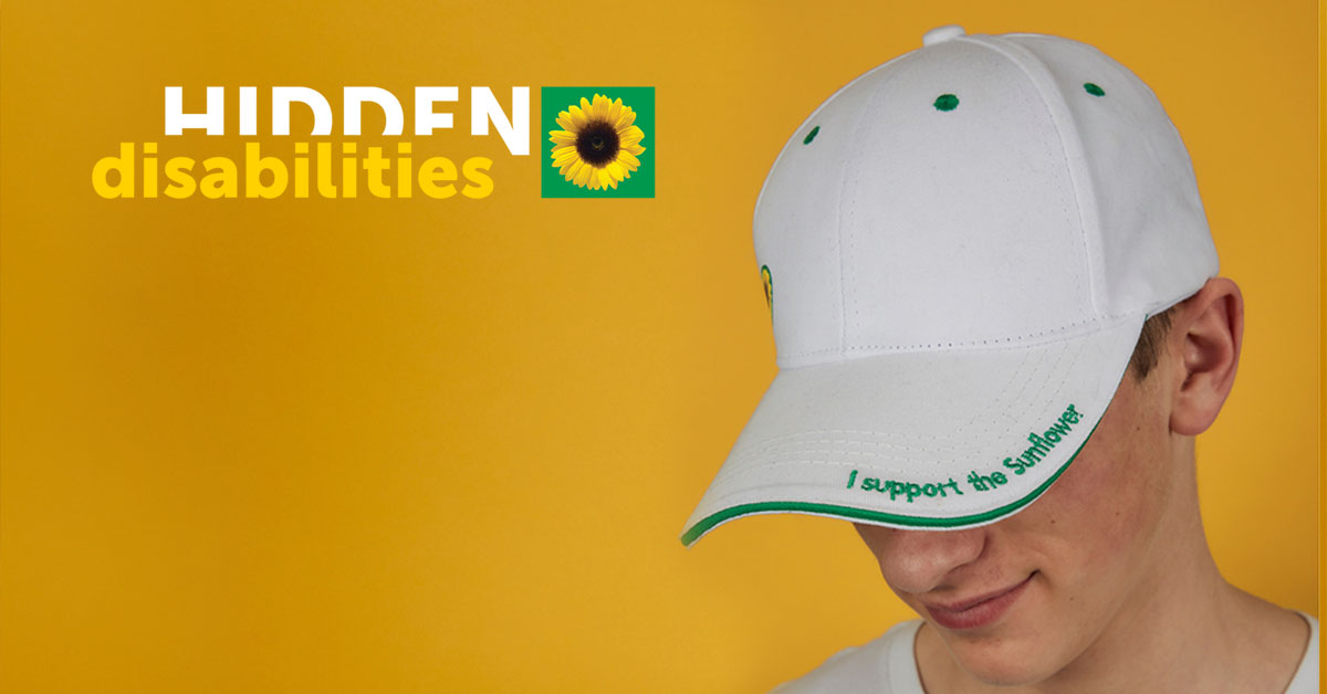 Image of white 'I support the Sunflower ' cap