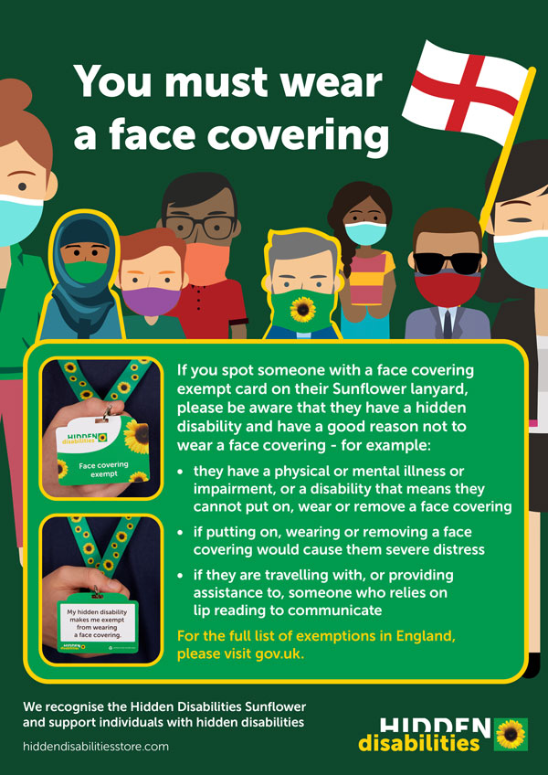 Northern Ireland face covering poster