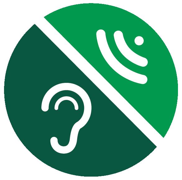 Sensitive to sound icon