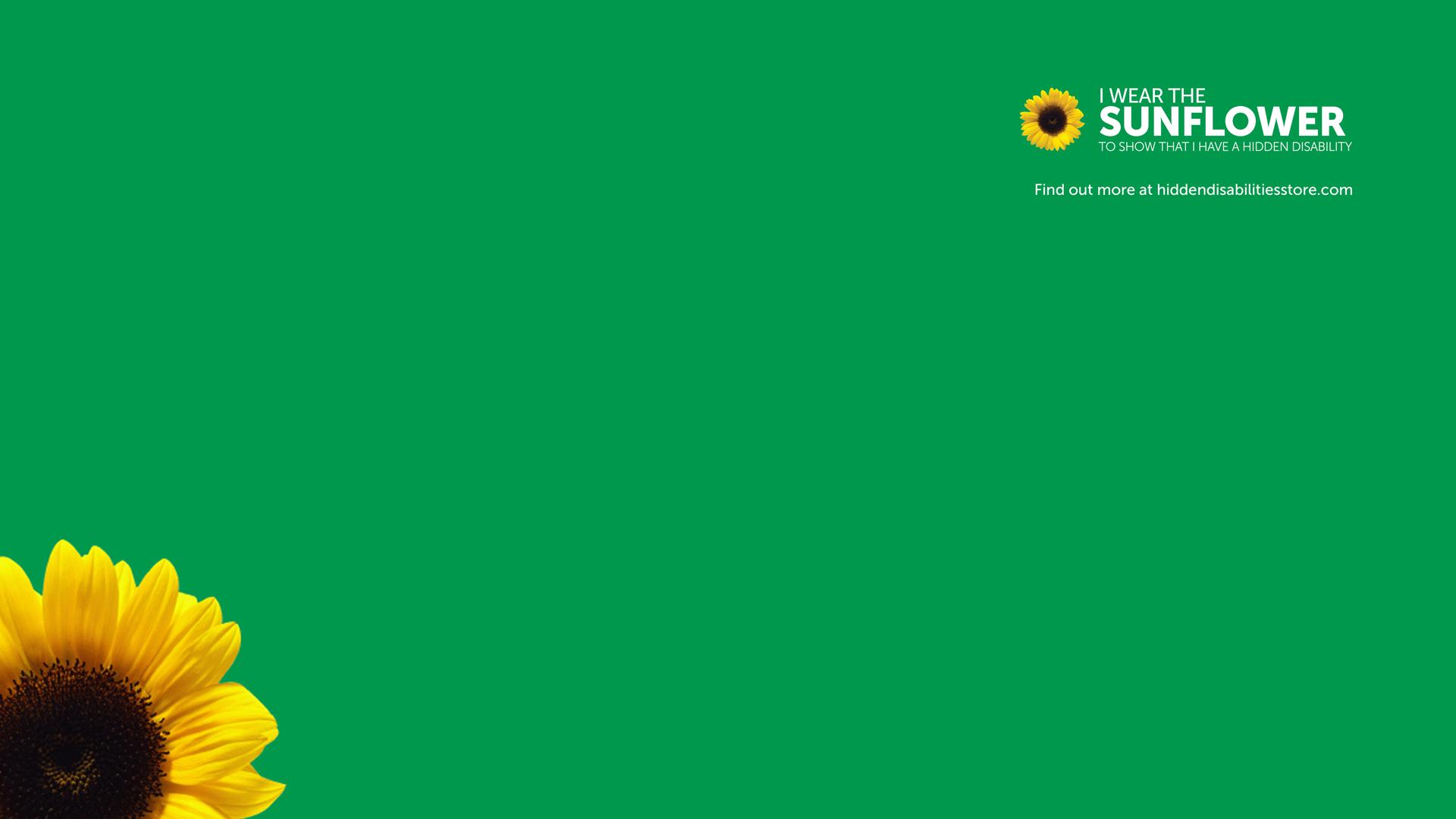 Hidden Disabilities Sunflower meeting background