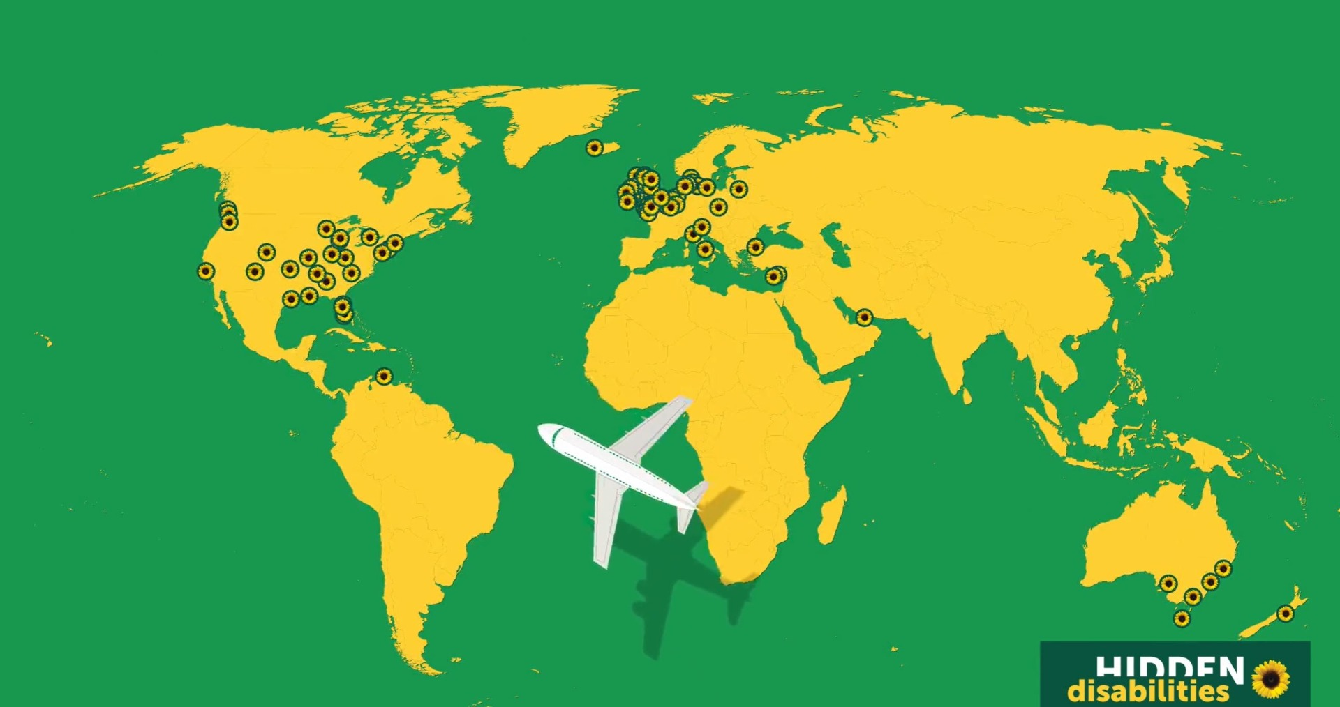 Map of Sunflower airports