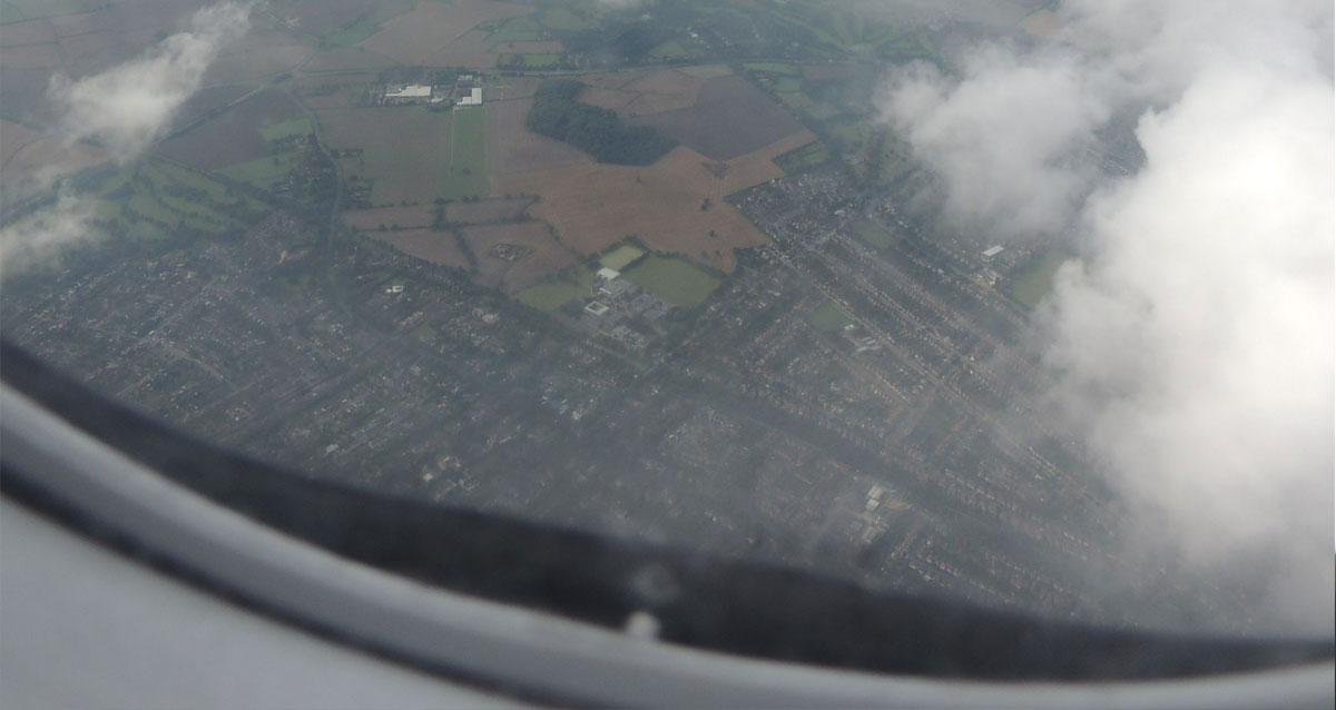Foto genomen vanuit vliegtuig